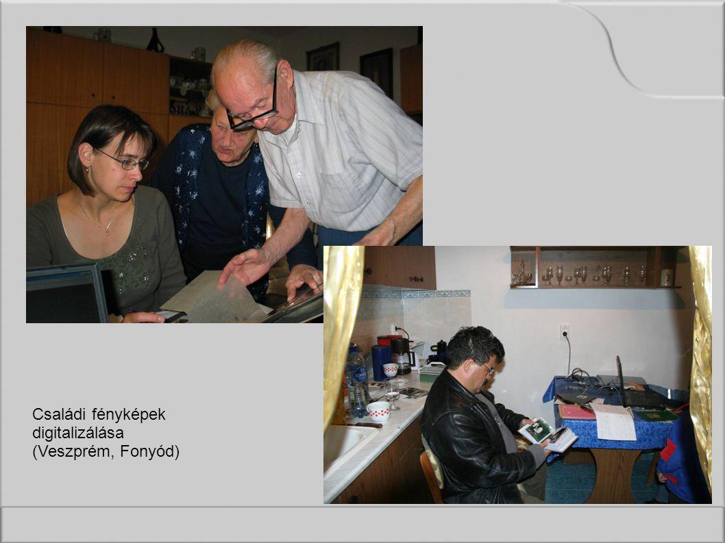 Családi fényképek digitalizálása (Veszprém, Fonyód)