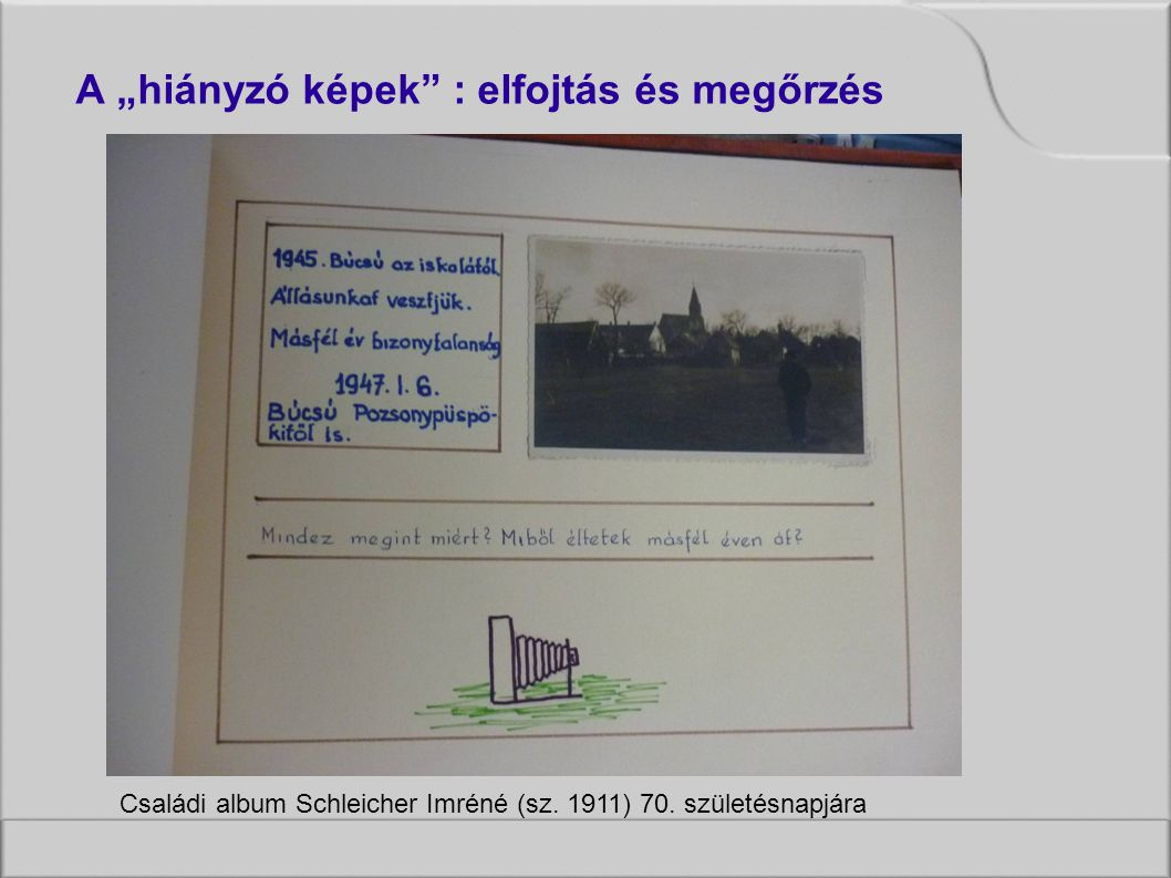 Családi album Schleicher Imréné (sz. 1911) 70.