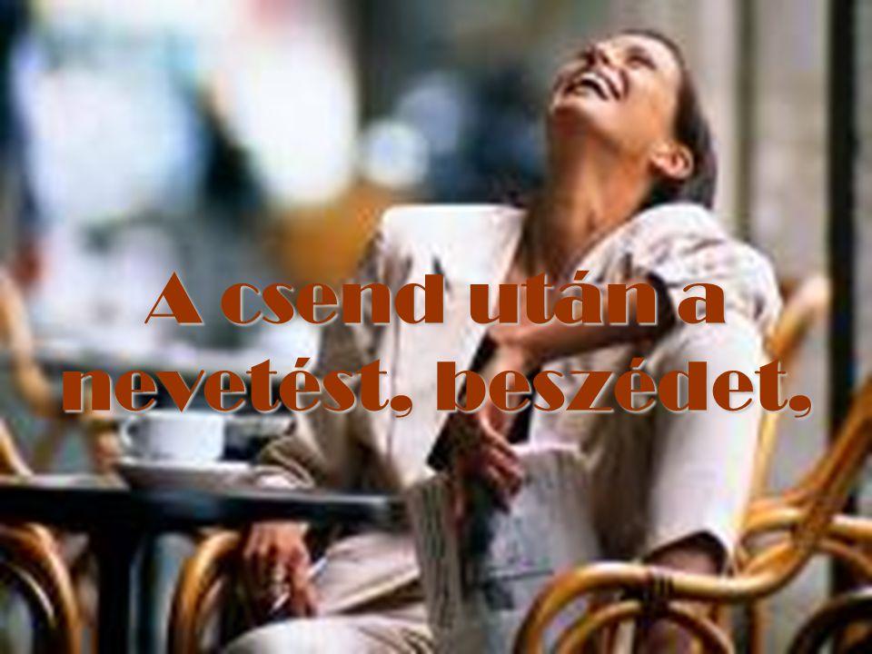 A csend után a nevetést, beszédet,