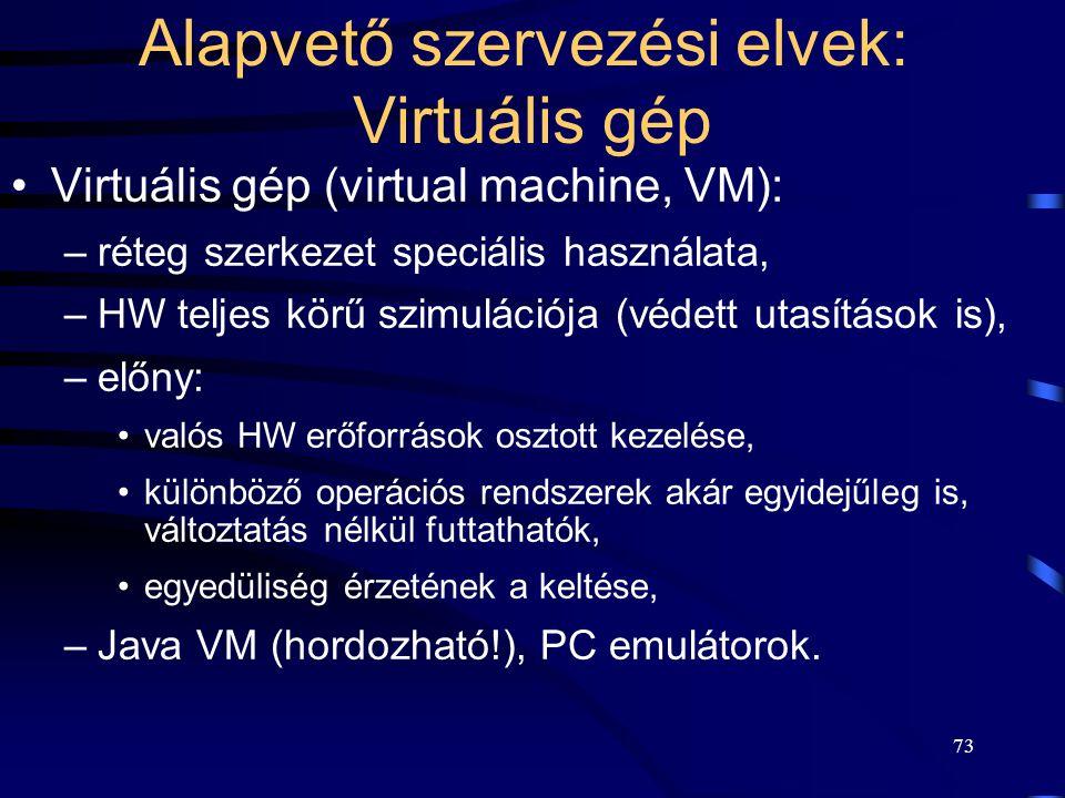 72 Kliens-szerver működés operációs rendszerekben