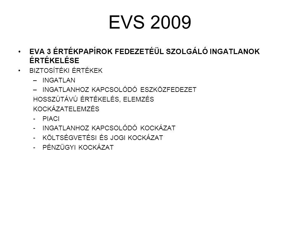 EVS 2009 EVA 4 BIZTOSÍTÁSI ÉRTÉK FELMÉRÉSE CÉL A BIZTOSÍTOTT MEGVÉDÉSE A VESZTESÉGTŐL.