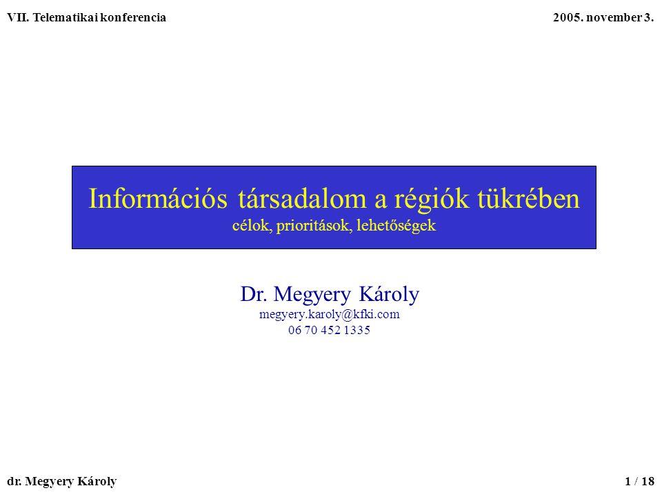 VII.Telematikai konferencia2005. november 3. dr.