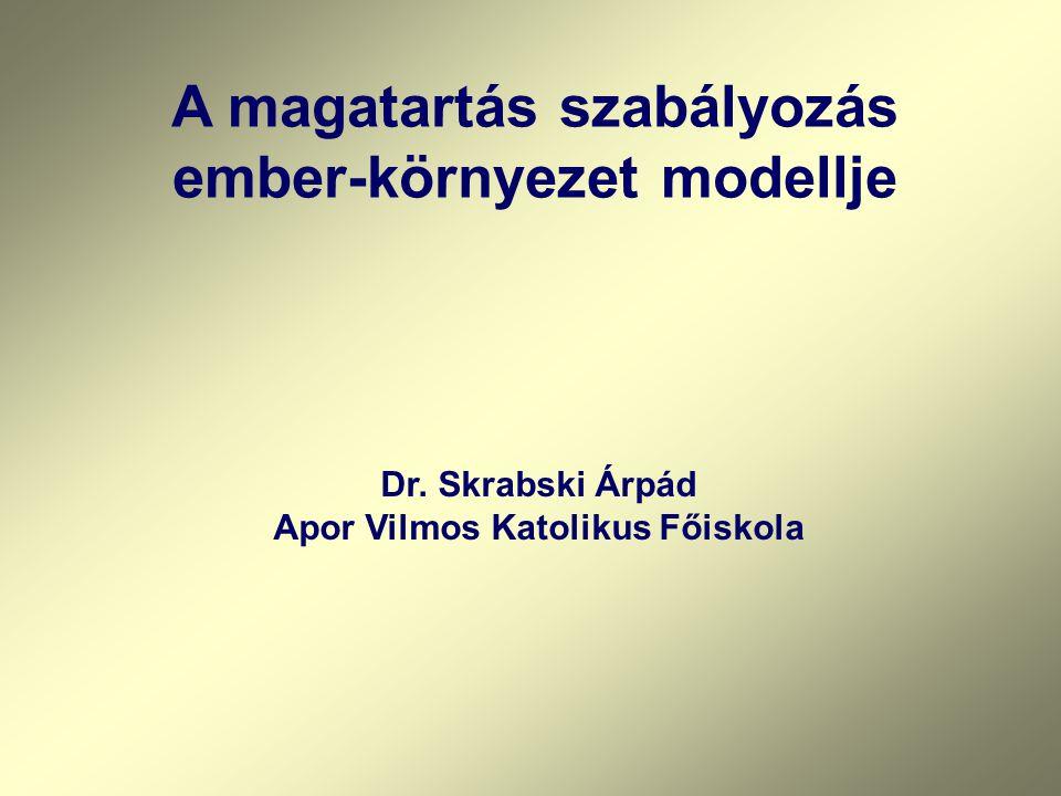 A magatartás szabályozás ember-környezet modellje Dr. Skrabski Árpád Apor Vilmos Katolikus Főiskola