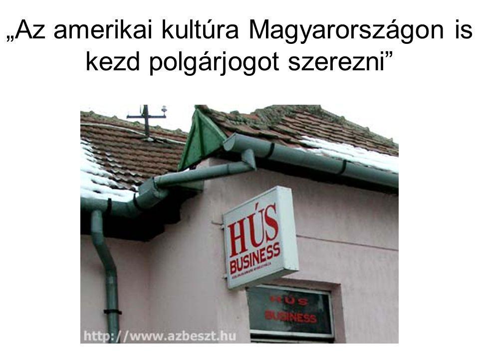 """""""Az amerikai kultúra Magyarországon is kezd polgárjogot szerezni"""