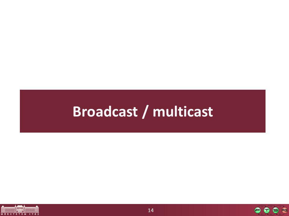 14 Broadcast / multicast