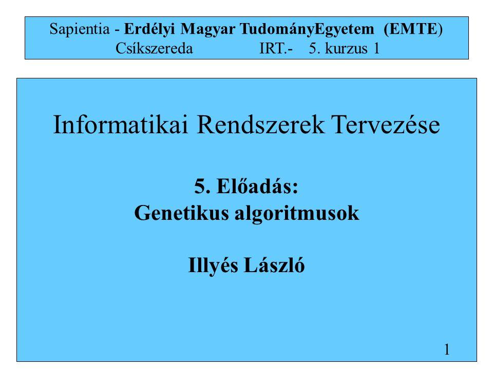 Informatikai Rendszerek Tervezése 5.