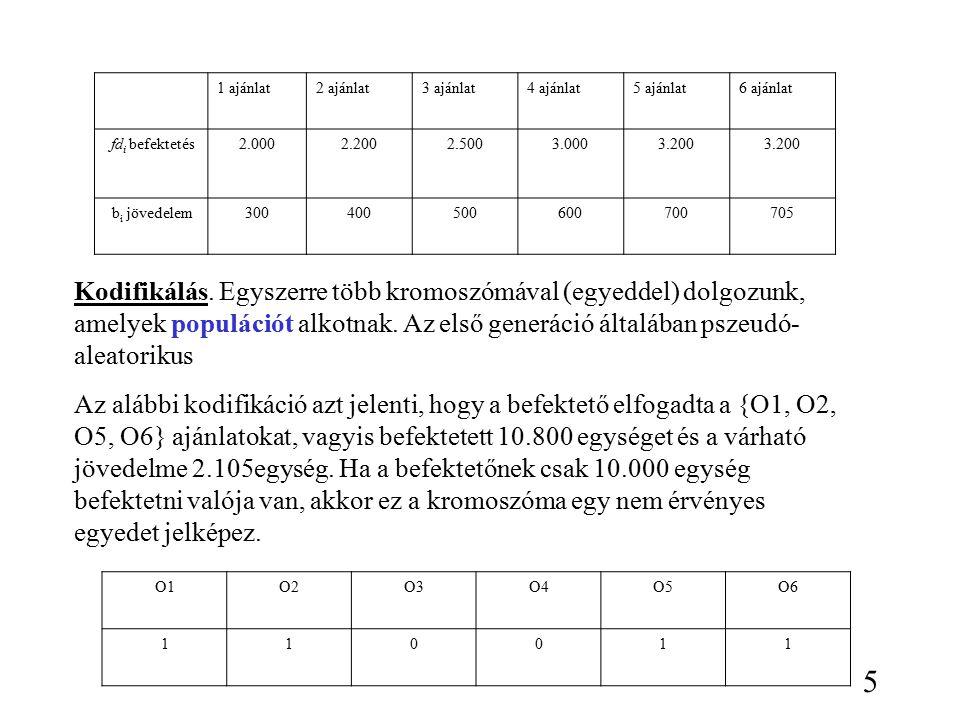 Más elméleti megközelítések Building block hyphotesis (Goldberg) Markov láncokkal Mechanikai statisztika 26