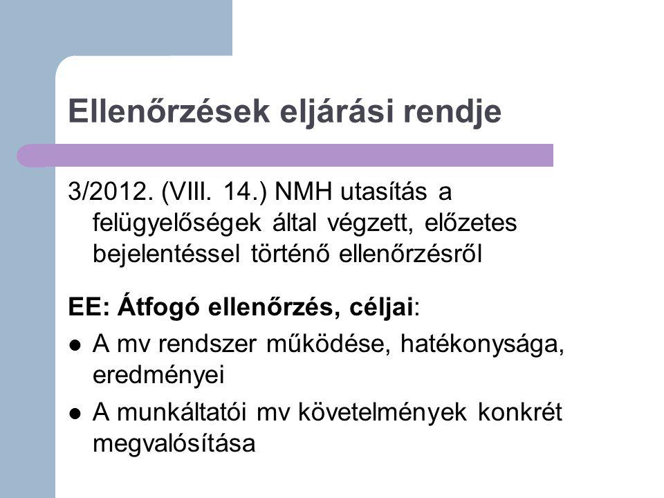 Ellenőrzések eljárási rendje 3/2012.(VIII.