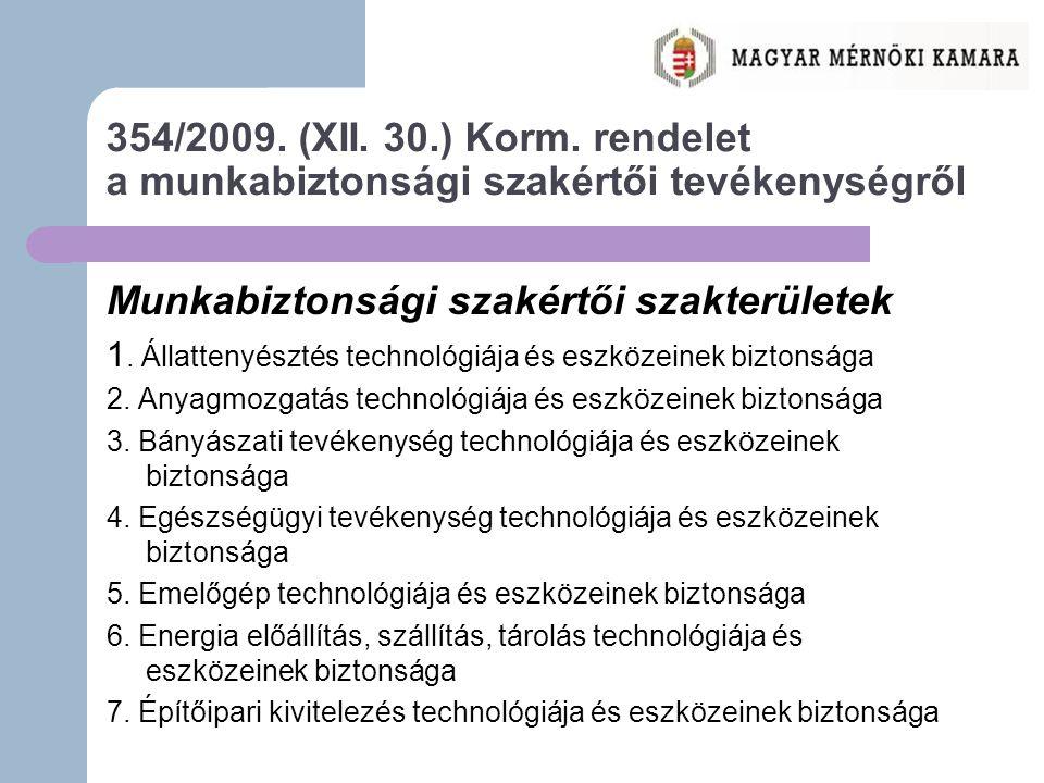 354/2009.(XII. 30.) Korm.