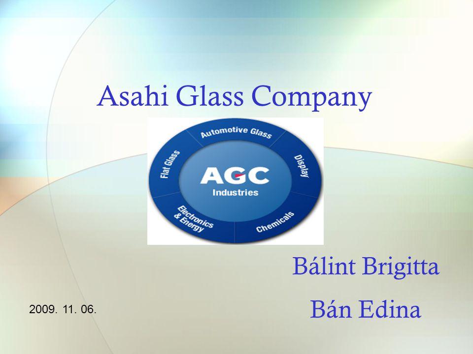 Asahi Glass Company Bálint Brigitta Bán Edina 2009. 11. 06.
