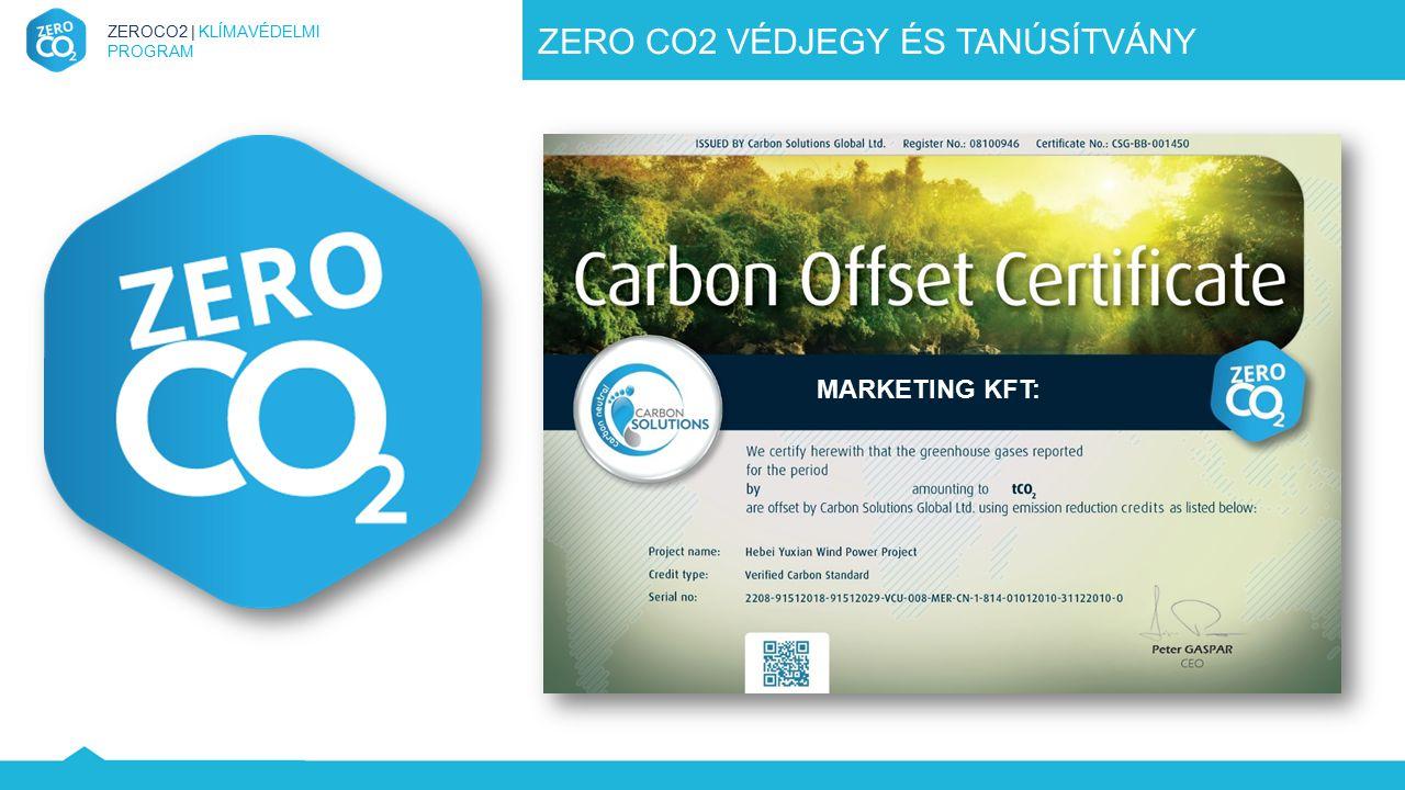ZEROCO2 | KLÍMAVÉDELMI PROGRAM ZERO CO2 VÉDJEGY ÉS TANÚSÍTVÁNY MARKETING KFT: