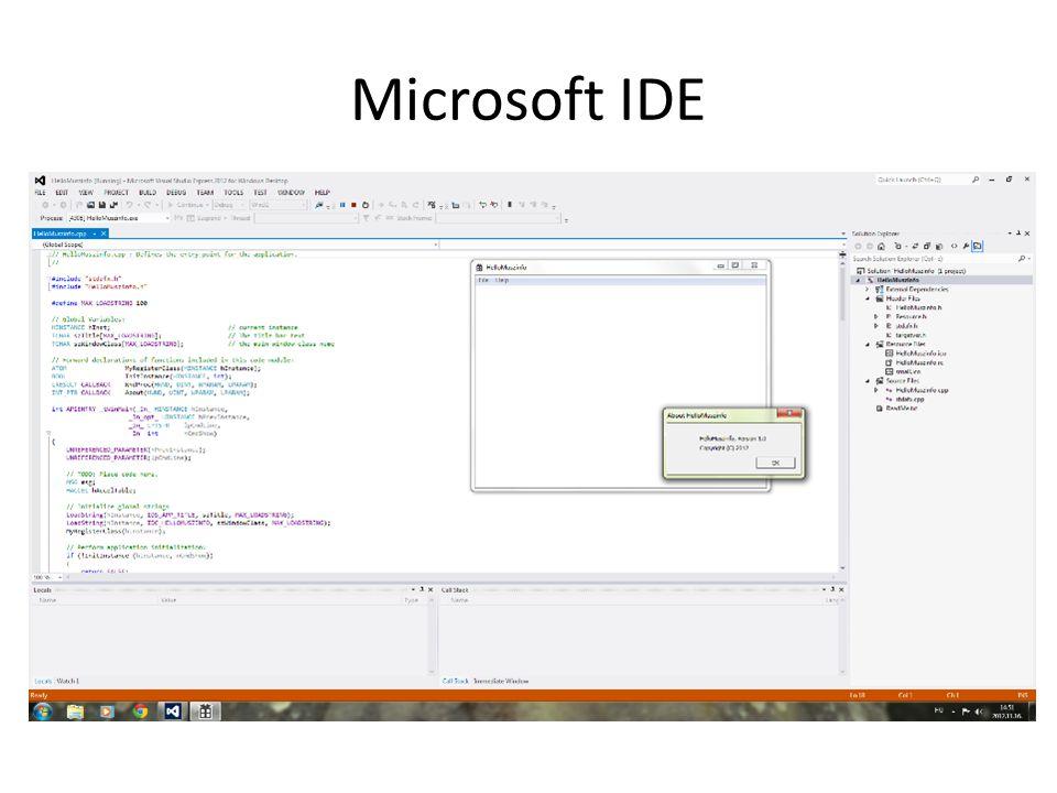 Microsoft IDE