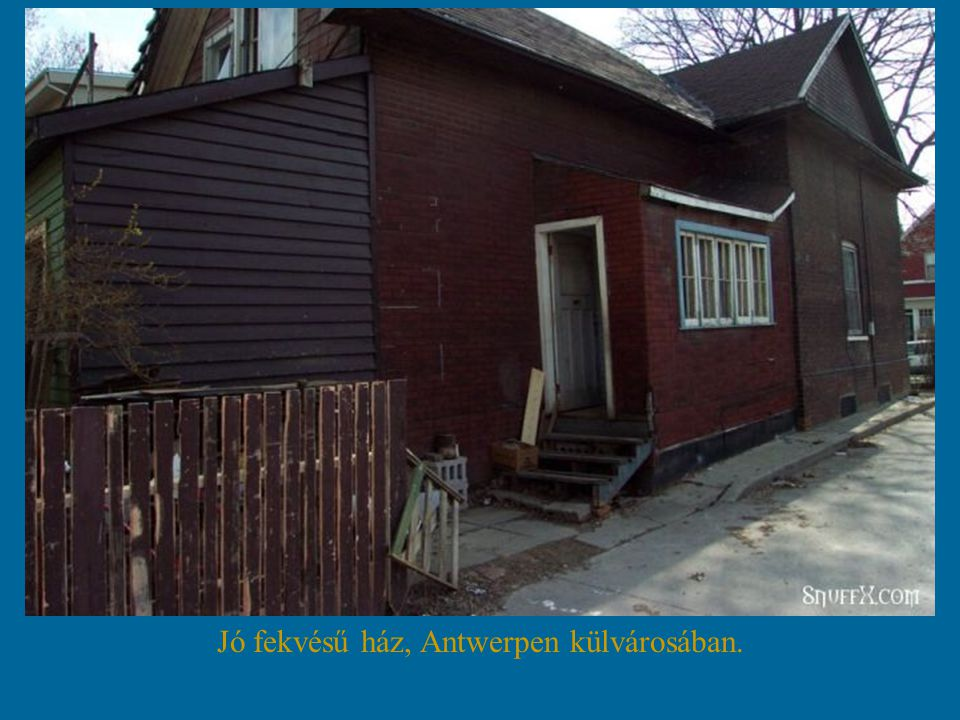 Jó fekvésű ház, Antwerpen külvárosában.