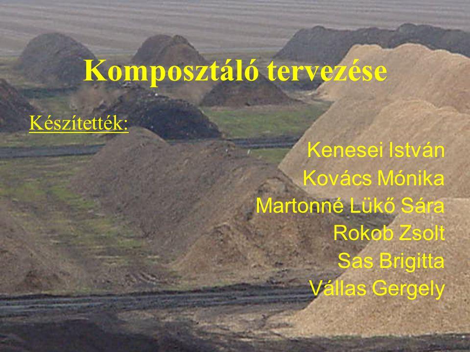 Komposztáló tervezése Készítették: Kenesei István Kovács Mónika Martonné Lükő Sára Rokob Zsolt Sas Brigitta Vállas Gergely