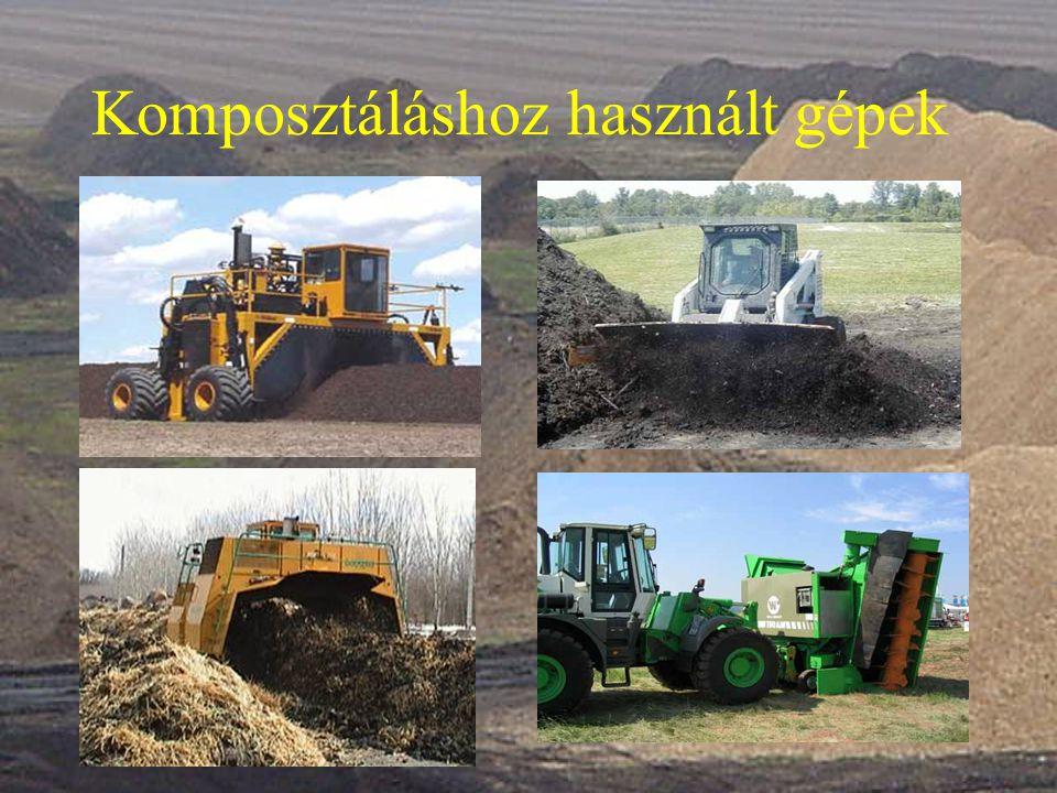Komposztáláshoz használt gépek