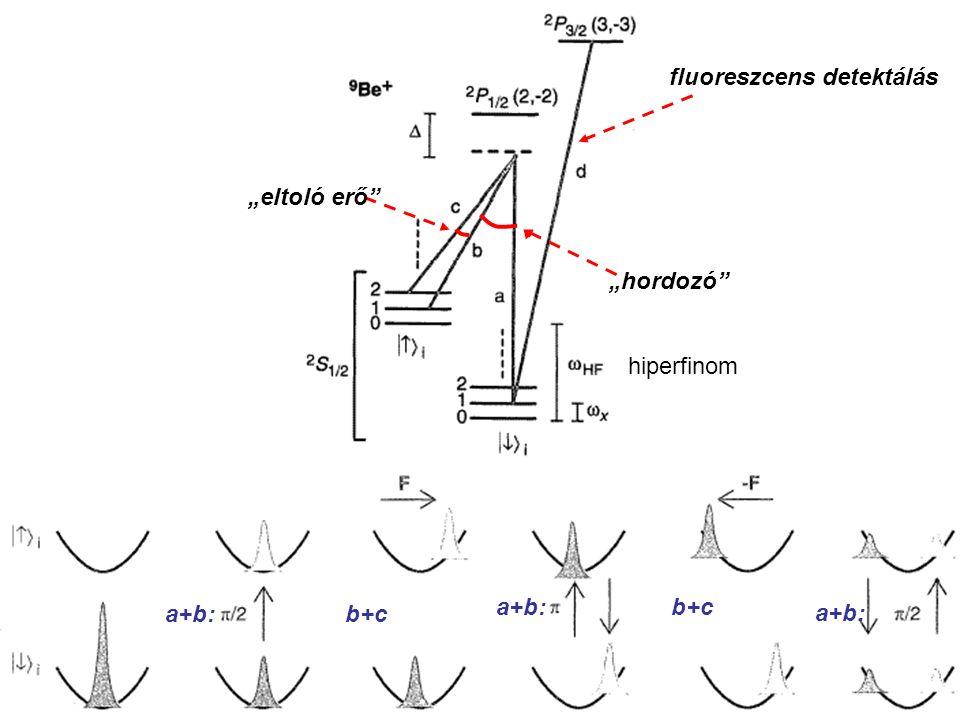További fejlemények: qubit, 2 qubites kapu (működik, de a technika nagyon nehéz) mikrohullám helyett optikai rezonátor (könnyebb kezelni, de nehezebb elérni az elég nagy jóságot) több atomos korrelációk kontrollált fotonállapotok preparálása és mérése A témáról mindent tud: Domokos Péter, SzFKI