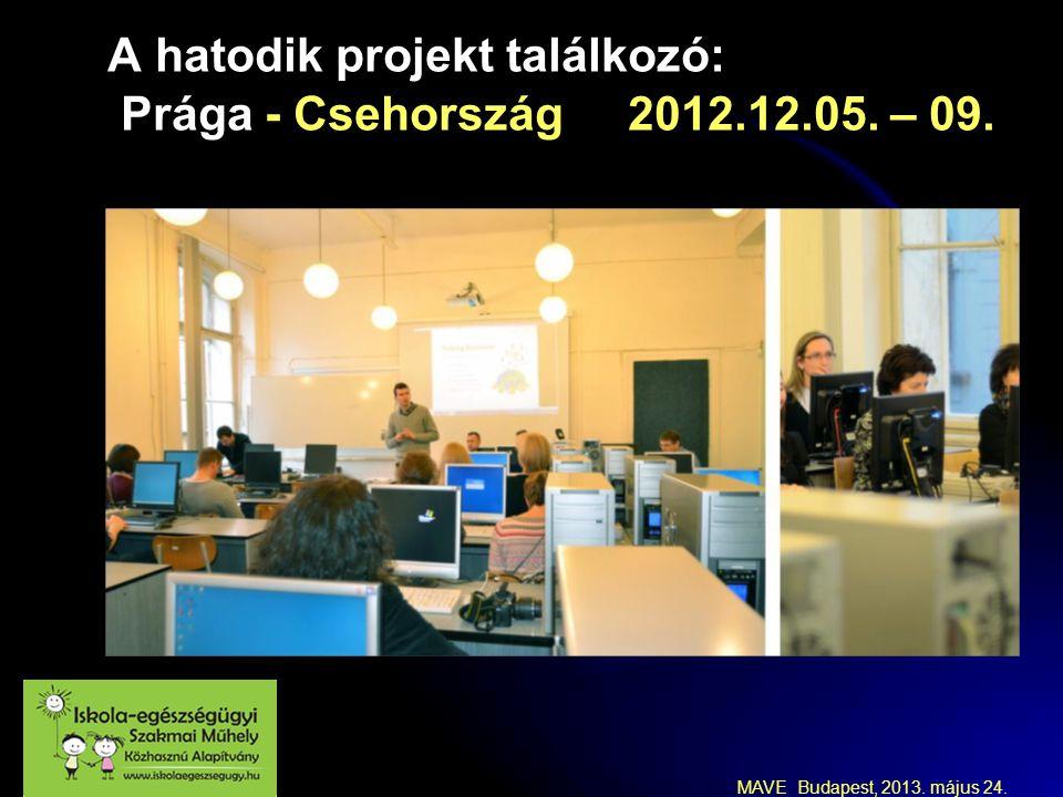 MAVE Budapest, 2013. május 24. A hatodik projekt találkozó: Prága - Csehország 2012.12.05. – 09.