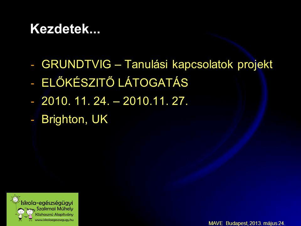 MAVE Budapest, 2013.május 24. A negyedik projekt találkozó: Győr - Magyarország 2012.06.27.