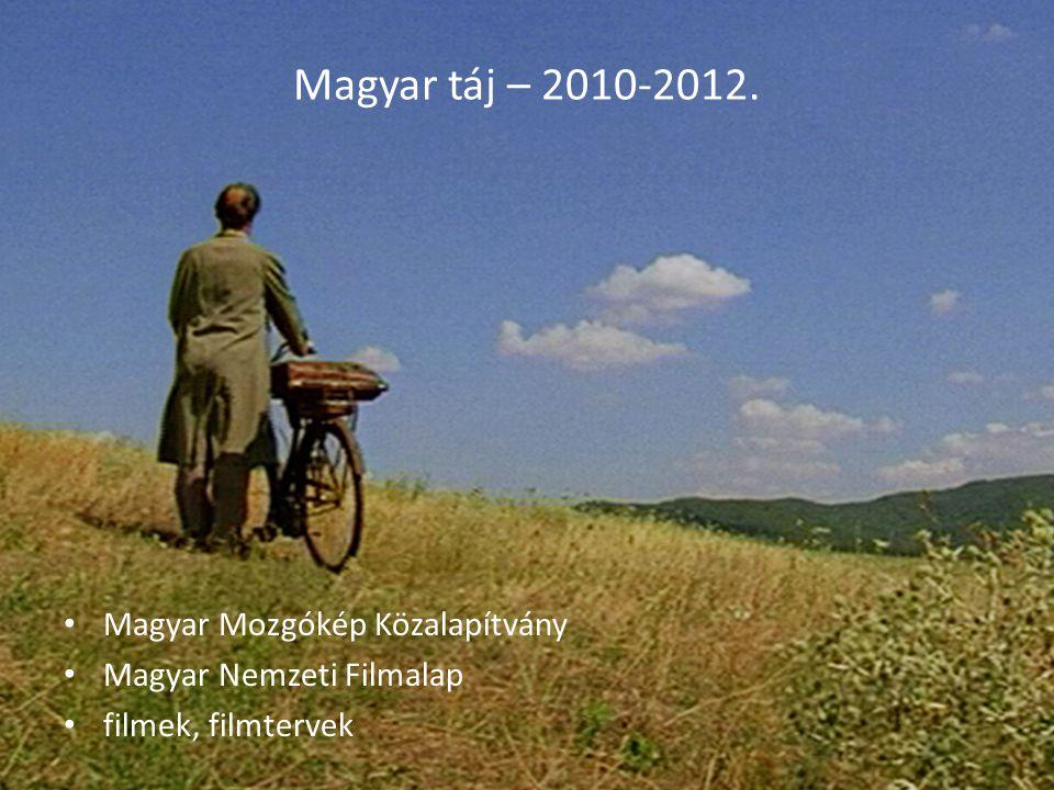 Magyar táj – 2010-2012. Magyar Mozgókép Közalapítvány Magyar Nemzeti Filmalap filmek, filmtervek