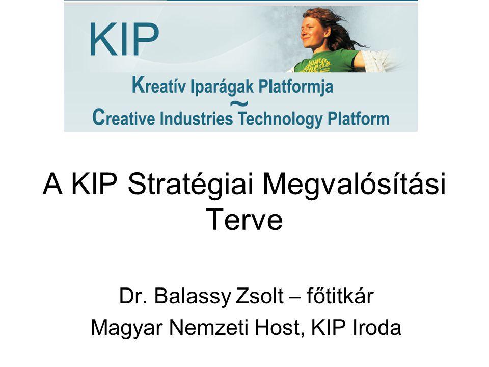 A KIP Stratégiai Megvalósítási Terve Dr. Balassy Zsolt – főtitkár Magyar Nemzeti Host, KIP Iroda