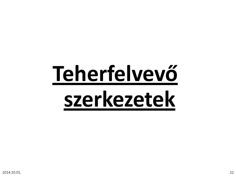 Teherfelvevő szerkezetek 2014.10.01.22