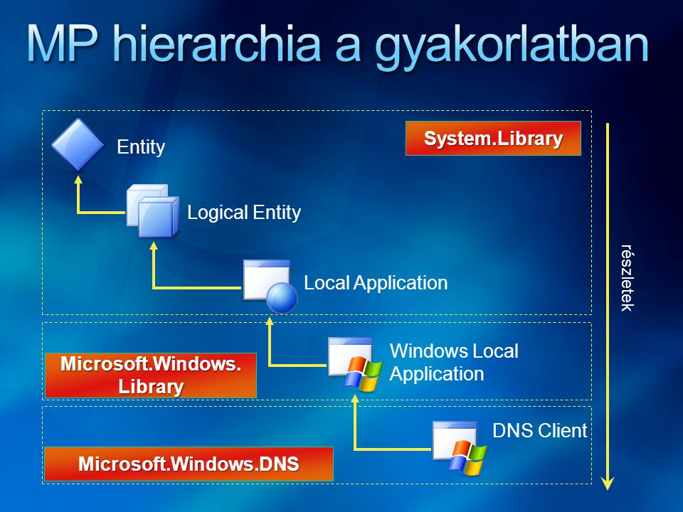 Entity Logical Entity Local Application Windows Local Application DNS Client részletek System.Library Microsoft.Windows.Library Microsoft.Windows.DNS