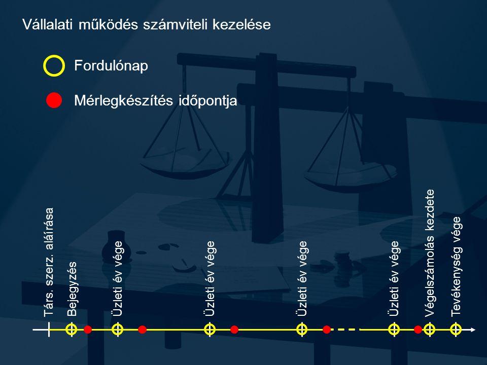 Vállalati működés számviteli kezelése Társ. szerz.