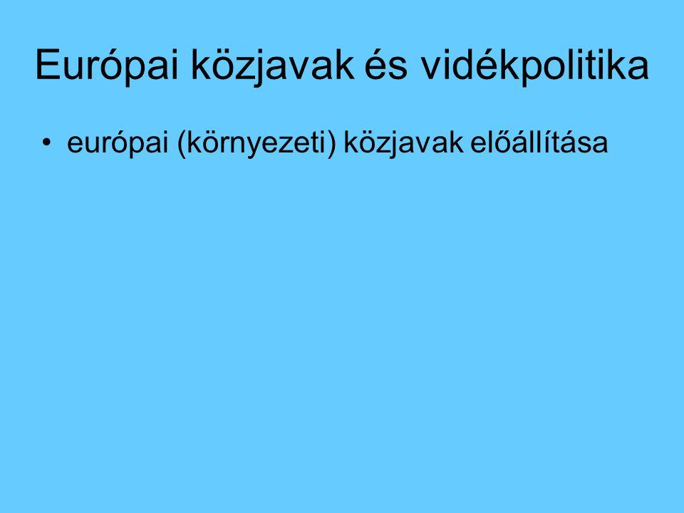 Európai közjavak és vidékpolitika európai (környezeti) közjavak előállítása