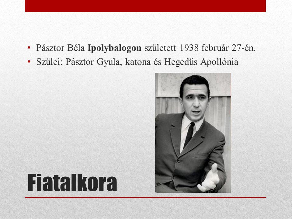 Fiatalkora Pásztor Béla Ipolybalogon született 1938 február 27-én. Szülei: Pásztor Gyula, katona és Hegedűs Apollónia