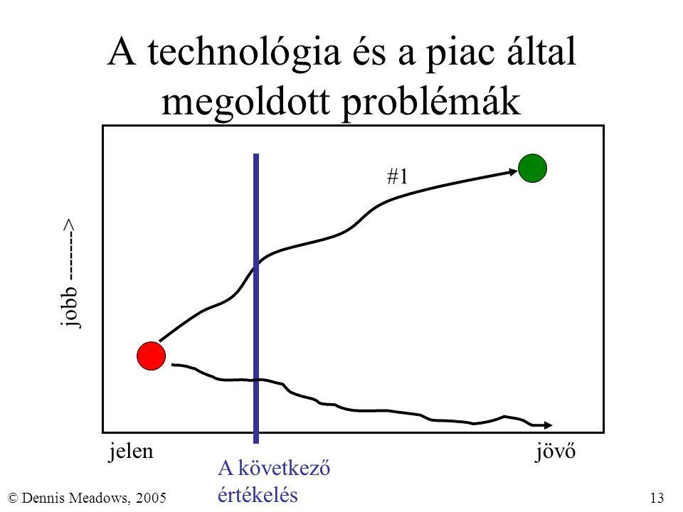 13© Dennis Meadows, 2005 A technológia és a piac által megoldott problémák jelenjövő jobb -------> A következő értékelés #1