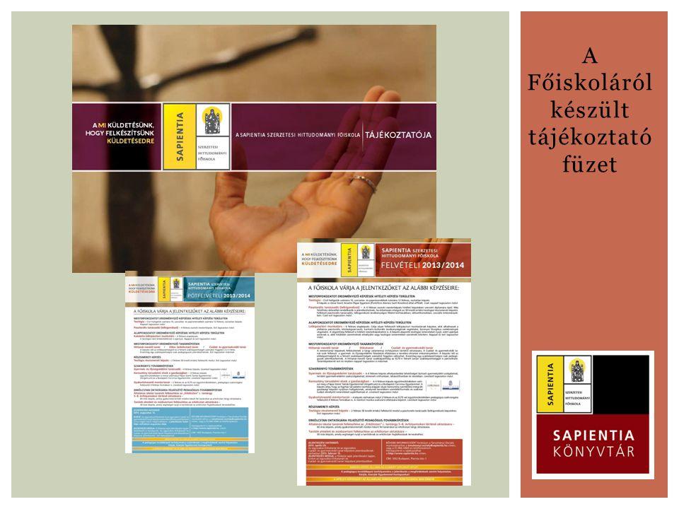 A Főiskoláról készült tájékoztató füzet