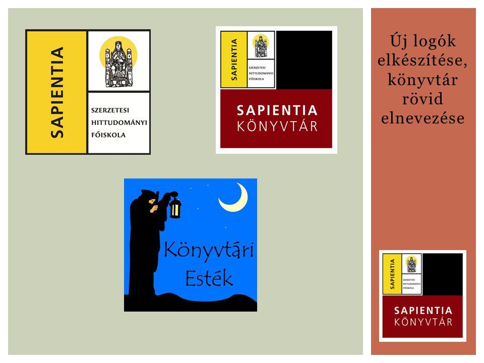 Új logók elkészítése, könyvtár rövid elnevezése