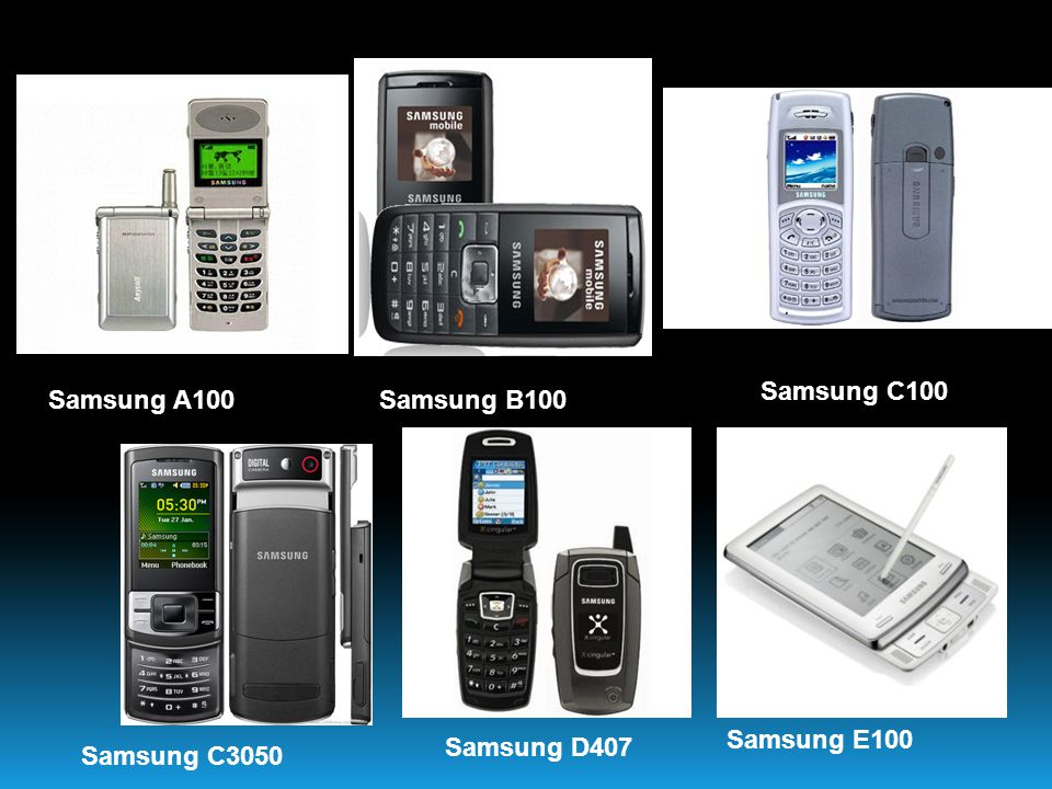 Samsung A100Samsung B100 Samsung C100 Samsung C3050 Samsung D407 Samsung E100
