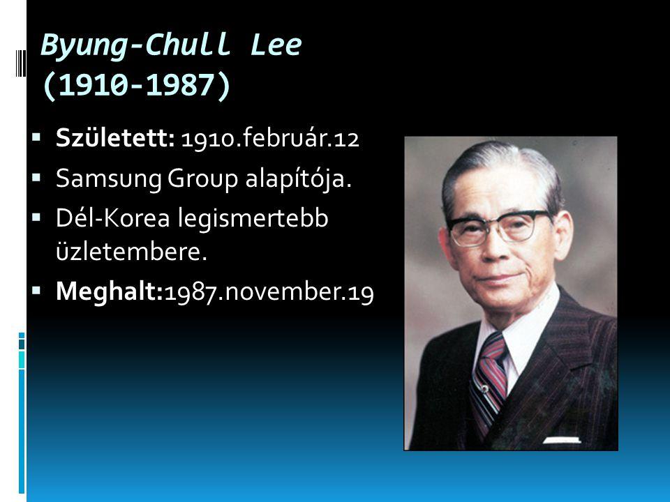Byung-Chull Lee (1910-1987)  Született: 1910.február.12  Samsung Group alapítója.