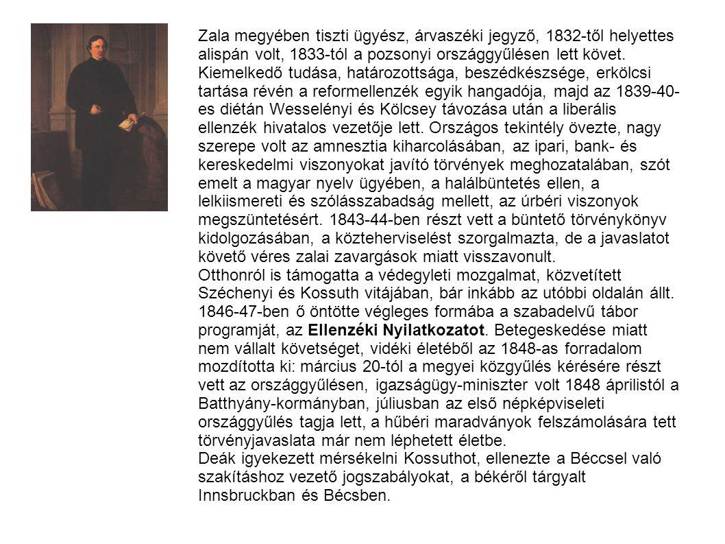 Zala megyében tiszti ügyész, árvaszéki jegyző, 1832-től helyettes alispán volt, 1833-tól a pozsonyi országgyűlésen lett követ. Kiemelkedő tudása, hatá