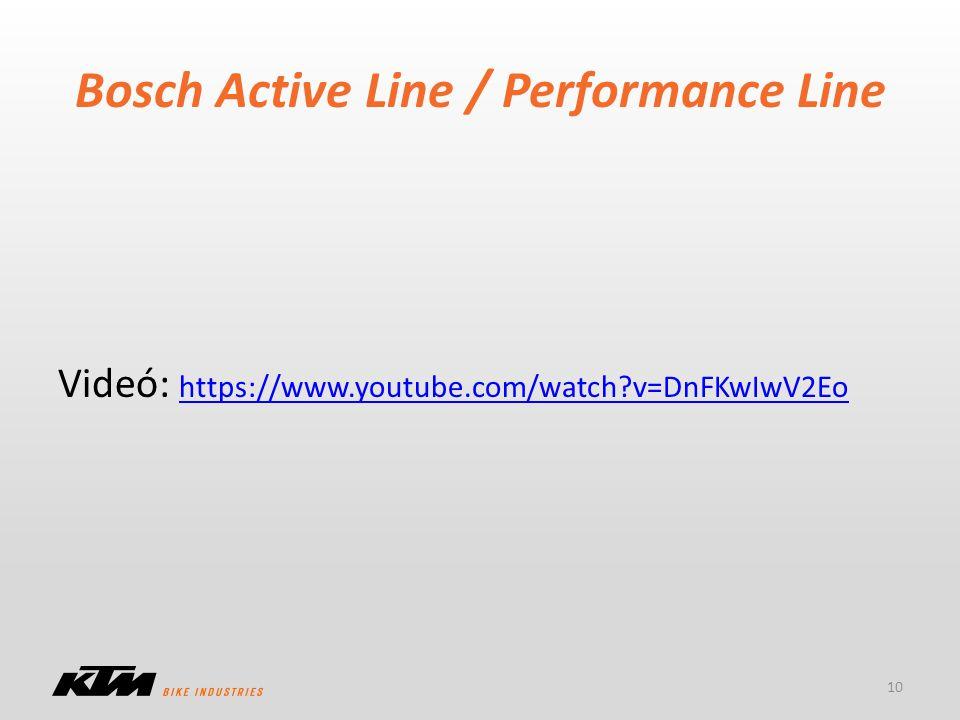 Bosch Active Line / Performance Line 10 Videó: https://www.youtube.com/watch?v=DnFKwIwV2Eo https://www.youtube.com/watch?v=DnFKwIwV2Eo