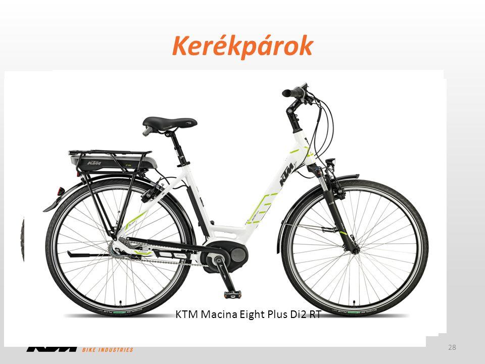 Kerékpárok -Plus: Performance Line -GPS: Nyon kijelző -DI2: elektromos váltó -45: 45 km/h-ás rásegítés -RT: kontrafék 28 KTM eGnition 27 GPS+ 45S KTM