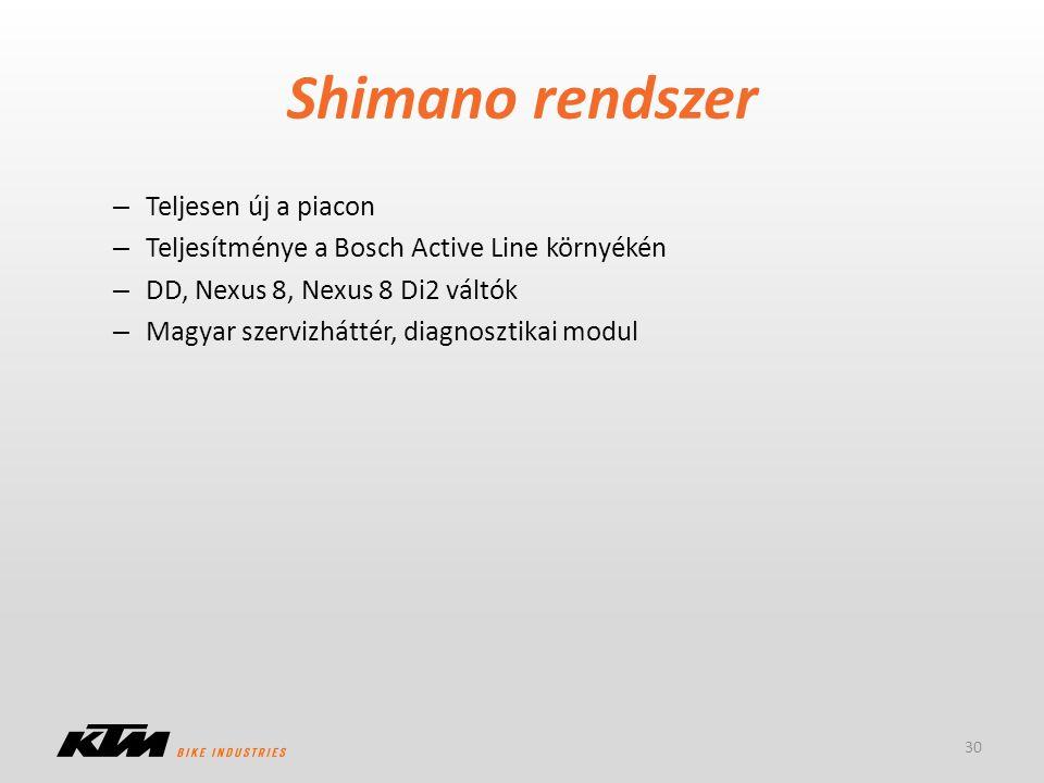 Shimano rendszer – Teljesen új a piacon – Teljesítménye a Bosch Active Line környékén – DD, Nexus 8, Nexus 8 Di2 váltók – Magyar szervizháttér, diagno