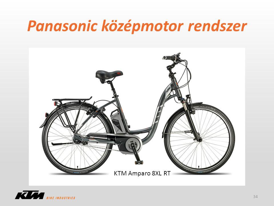 Panasonic középmotor rendszer – A rendszer nem változott (de a komponenseket cserélték) – Nagyobb akkuk az XL-nél 34 KTM Amparo 8XL RT