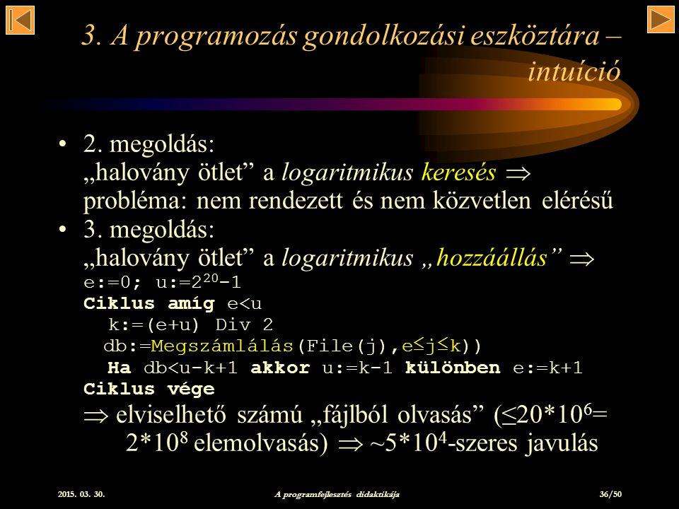 2015.03. 30. A programfejlesztés didaktikája 36/50 3.