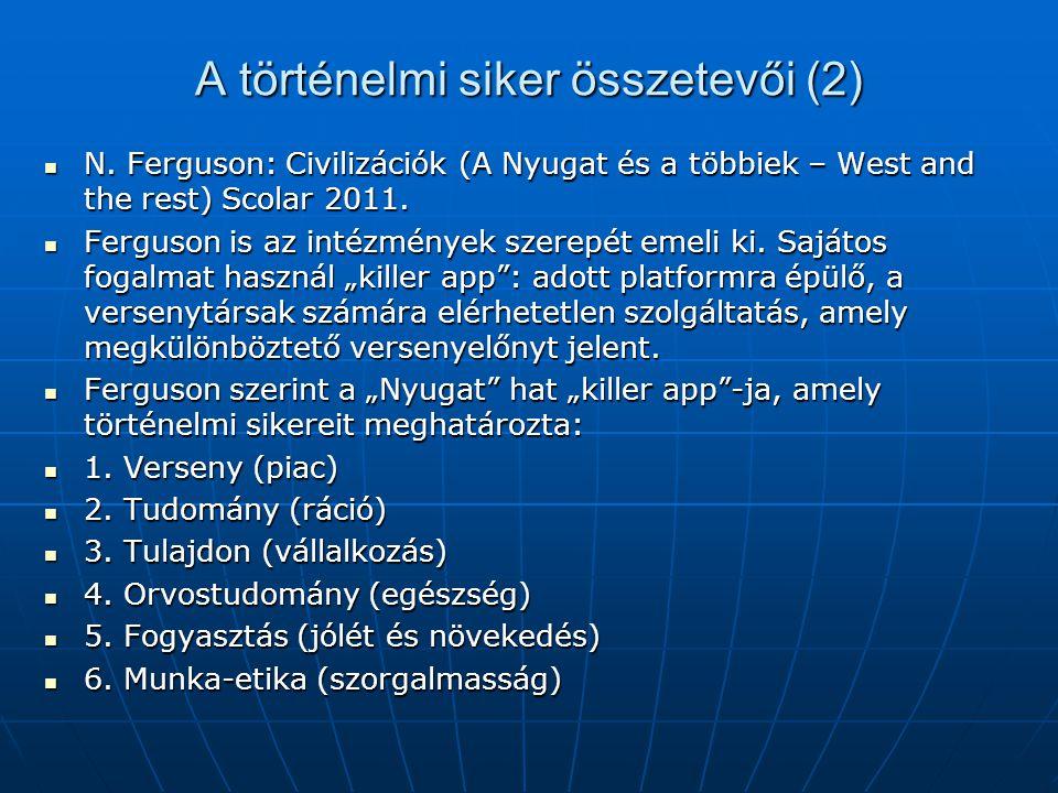 A történelmi siker összetevői (3) D.Acemoglu és J.