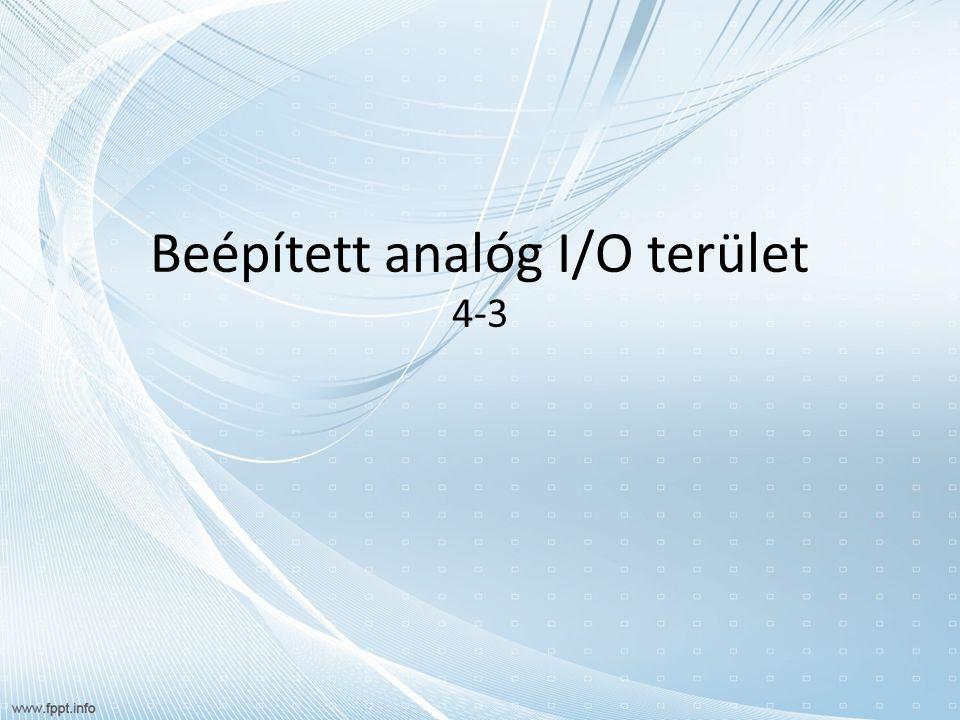 Beépített analóg I/O terület 4-3