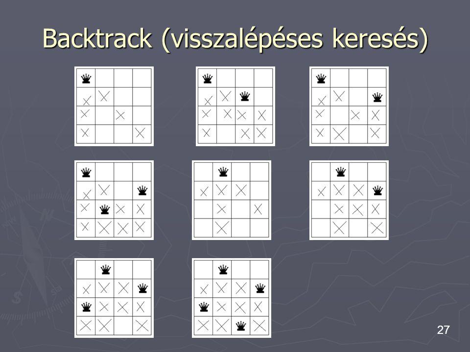 27 Backtrack (visszalépéses keresés)