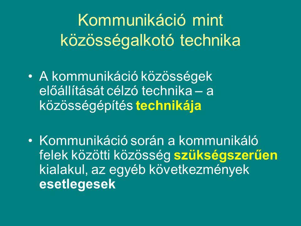 Technikai kontextus Az Internet mint számítógépek hálózata szükséges, de nem elégséges a technika elsődlegessége Funkció: emberi szükségletek kielégítése bank, vásárlás, e-gazdaság, e-learning, e-tc.