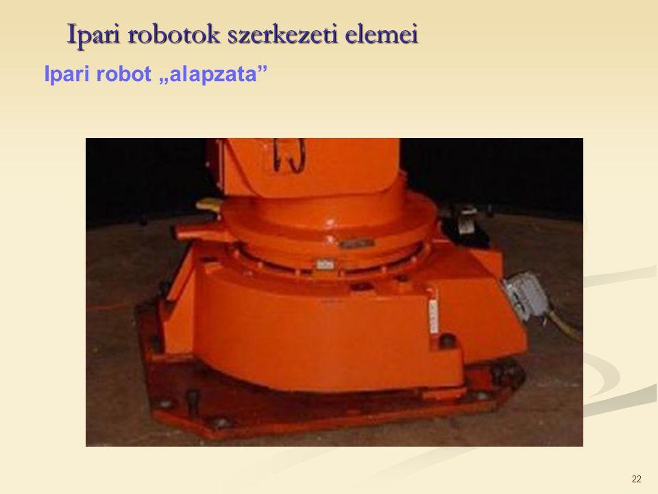 "22 Ipari robotok szerkezeti elemei Ipari robot ""alapzata"""