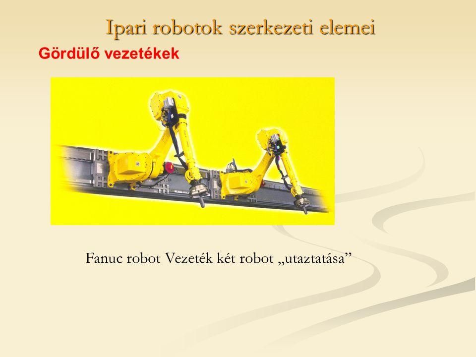 """Ipari robotok szerkezeti elemei Gördülő vezetékek Fanuc robot Vezeték két robot """"utaztatása"""""""