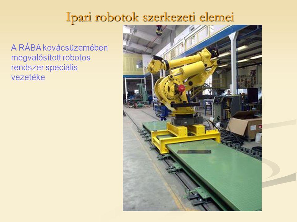 Ipari robotok szerkezeti elemei A RÁBA kovácsüzemében megvalósított robotos rendszer speciális vezetéke
