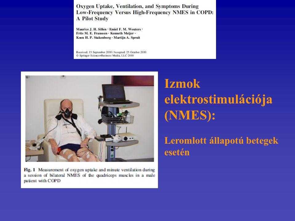 Izmok elektrostimulációja (NMES): Leromlott állapotú betegek esetén