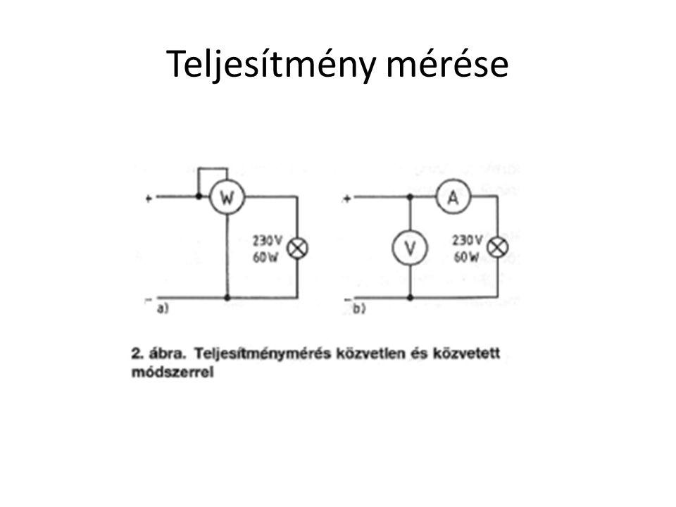 Az elektromos berendezések ellenállása gyárilag beállított állandó érték, ezért teljesítményüket a rájuk kapcsolt feszültség határozza meg.
