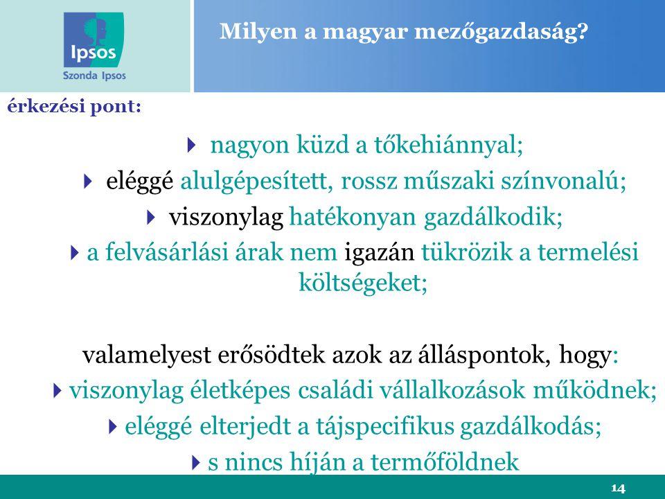 14 Milyen a magyar mezőgazdaság.